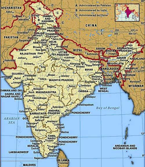 Intian Turisti Kartta